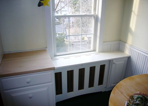 Custom Made Kitchen Cabinet And Radiator Cover