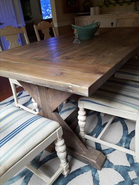 Custom Made Farm House Trestle Table
