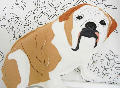 Custom Made Custom Evie The English Bulldog Pet Felt Plushie