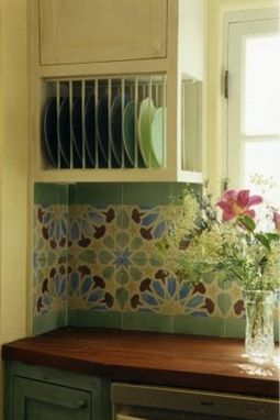 Custom Made Alhambra - Kitchen Cement Tile Backsplash