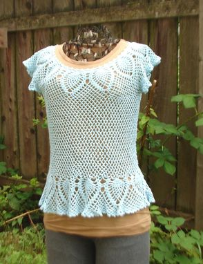 Custom Made Pineapple And Mesh Top In Aqua