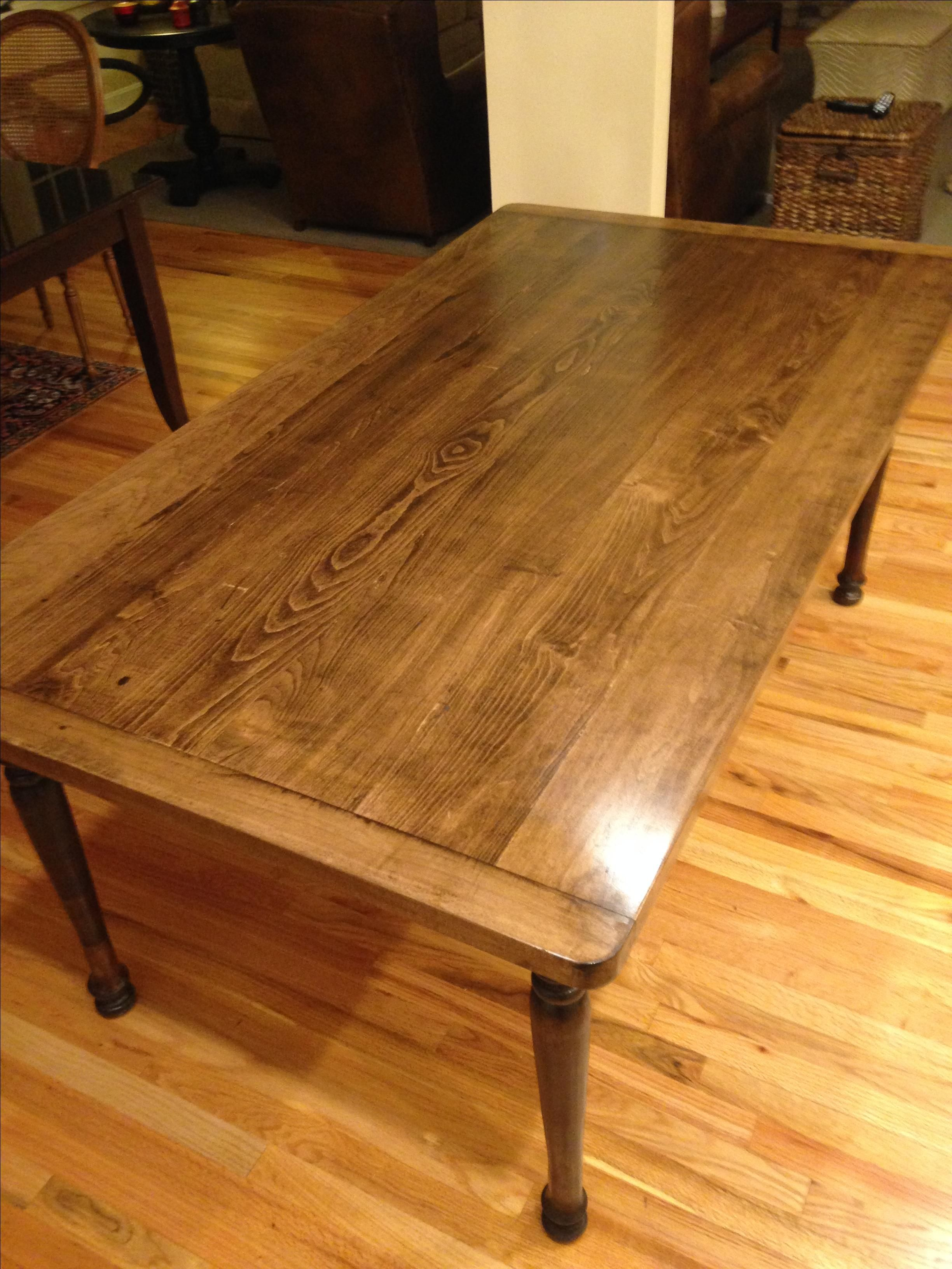Hand Crafted Solid Maple Farmhouse Dining Table With