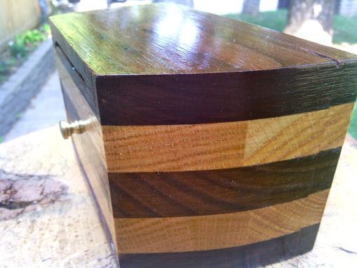 Custom Made Repurposed Bandsaw Box In Walnut And Oak