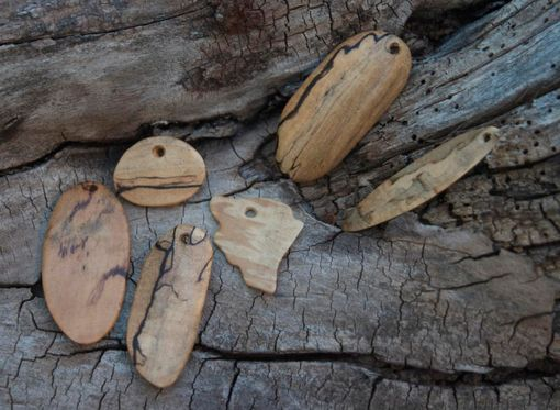 Custom Made Spalted Maple Wearable Sculpture Pendant