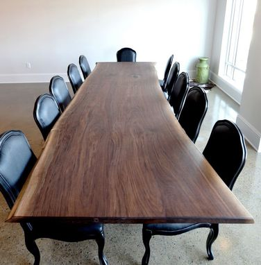 Custom Made Black Walnut Live Edge Conference Table