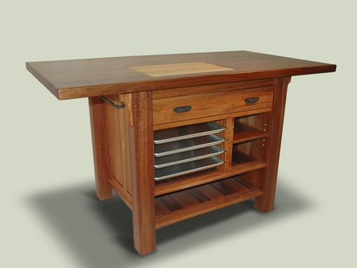 Custom Made Mahogany Kitchen Island