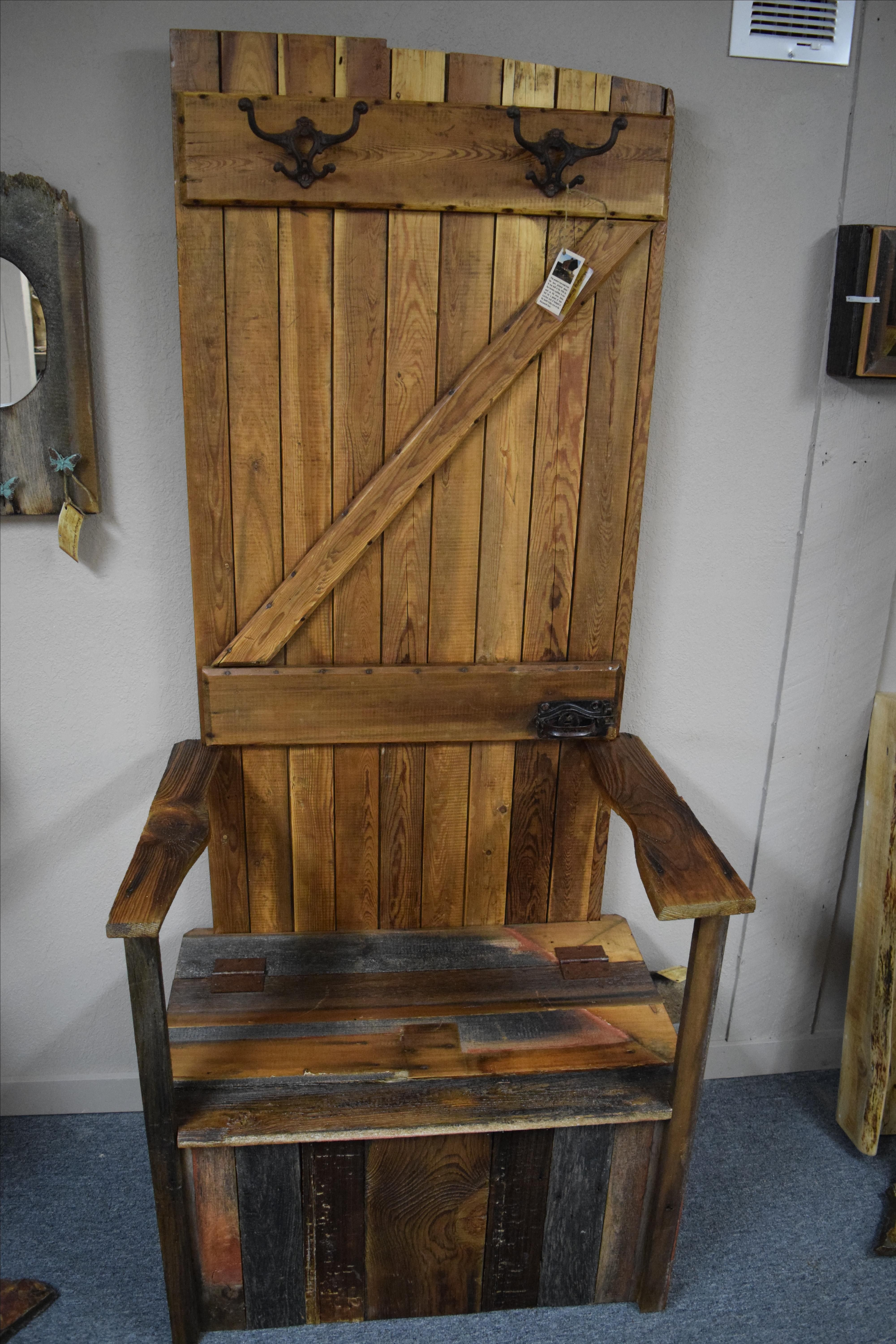 Buy Hand Made Barn Wood Hall Tree Made To Order From Montana Stone Carving Custommade Com