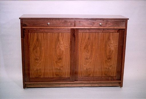 Custom Made Foyer Cabinet - Walnut