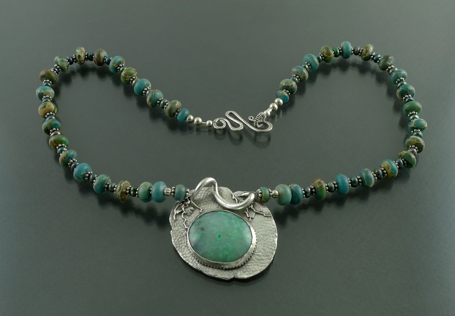 chrysoprase gold with necklace filled spring products clasp chain on