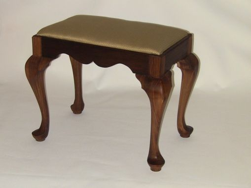 Custom Made Walnut Queen Anne Foot Stool