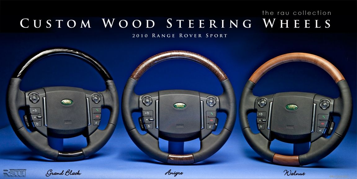 Hand Crafted Custom Wood Steering Wheels For Range Rover Sport