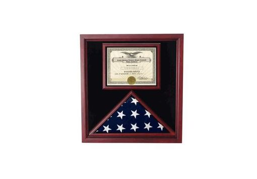 Custom Made Flag And Certificate Case