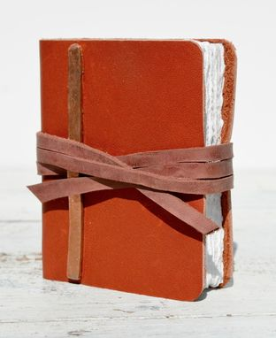 Custom Made Custom Mini Red Leather Journal Pocket Dairy