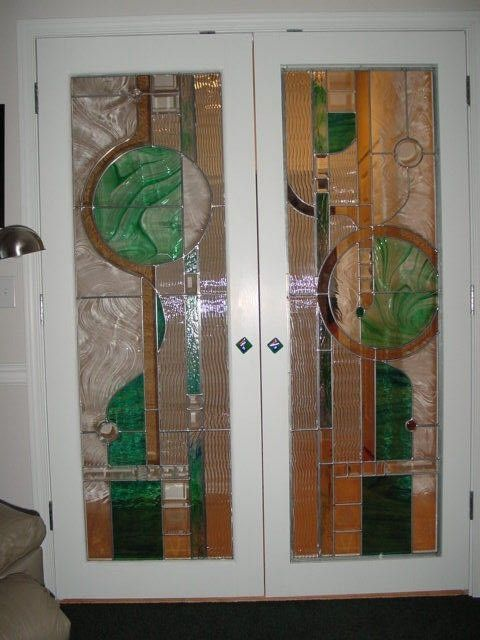 Hand Made Stained Glass French Door Design And Fabrication By