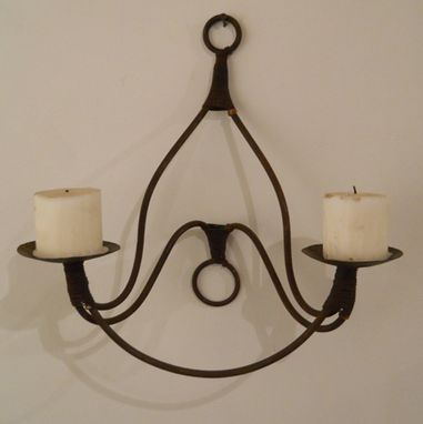 Custom Made Bella - Wrought Iron Sconce