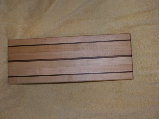 Custom Made Hard Maple Cutting Board With Walnut Accent Strips