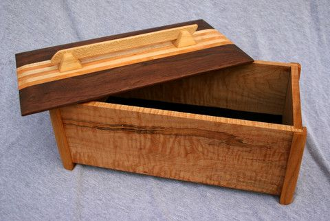 Custom Made Curly Maple Storage Box