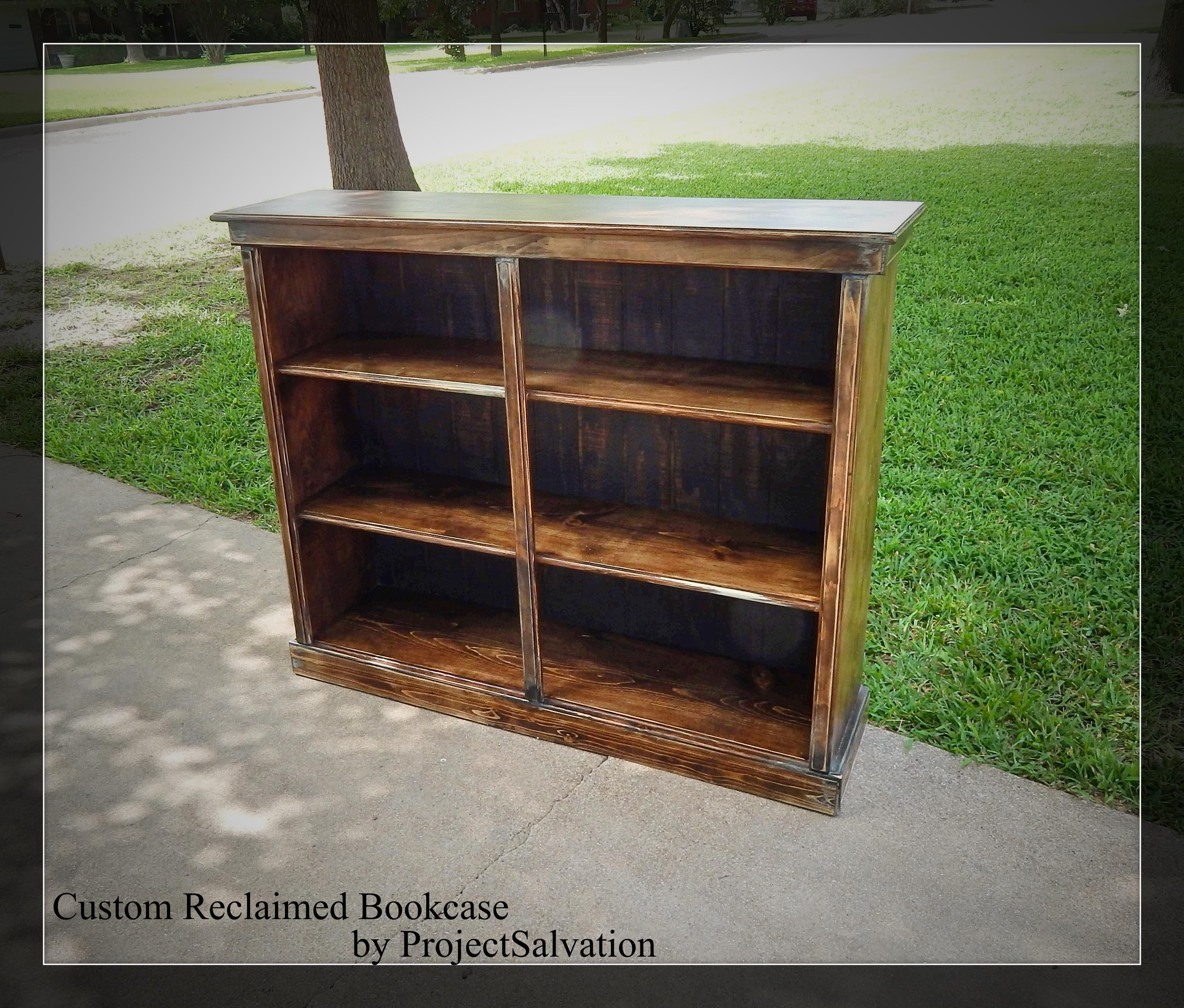 Custom Made Reclaimed Bookcase Barnwood