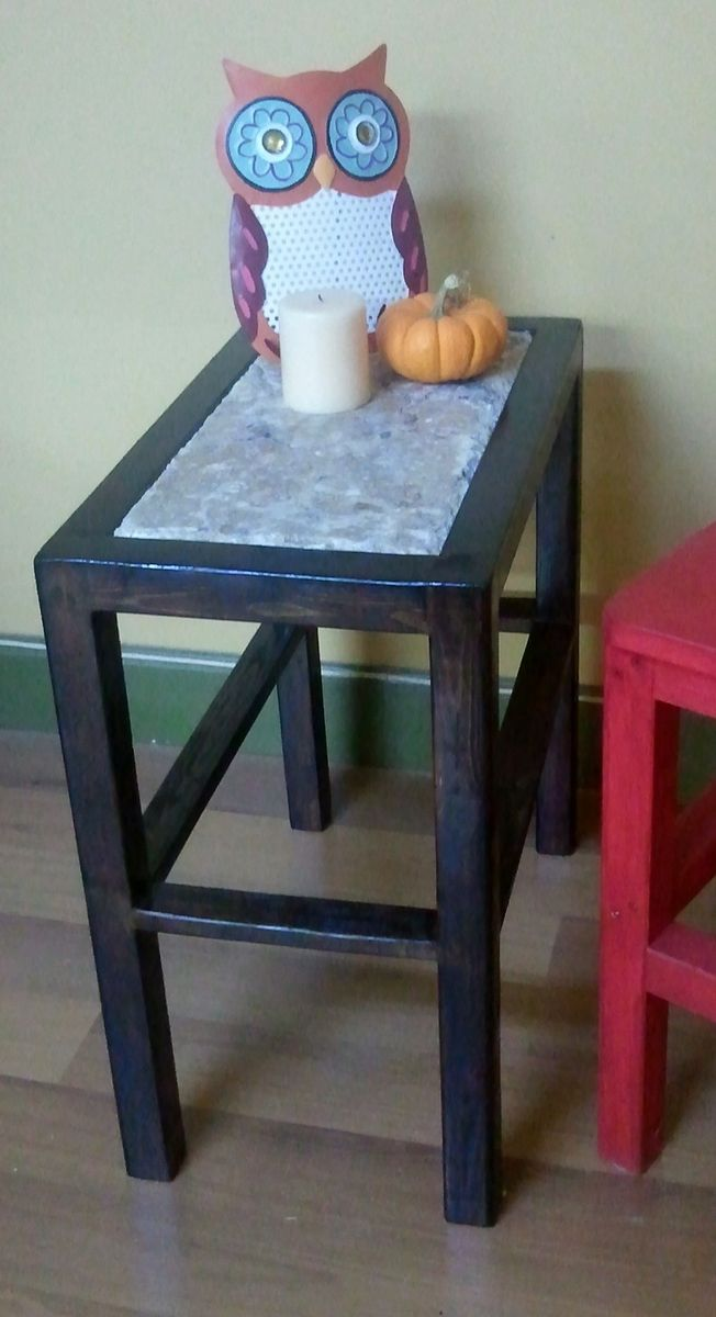 Custom Small Granite Side Table By Wholly Craft Inc