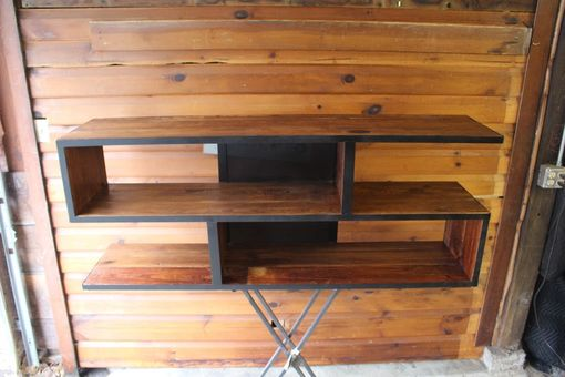 Custom Made Custom Media Center From Reclaimed Materials