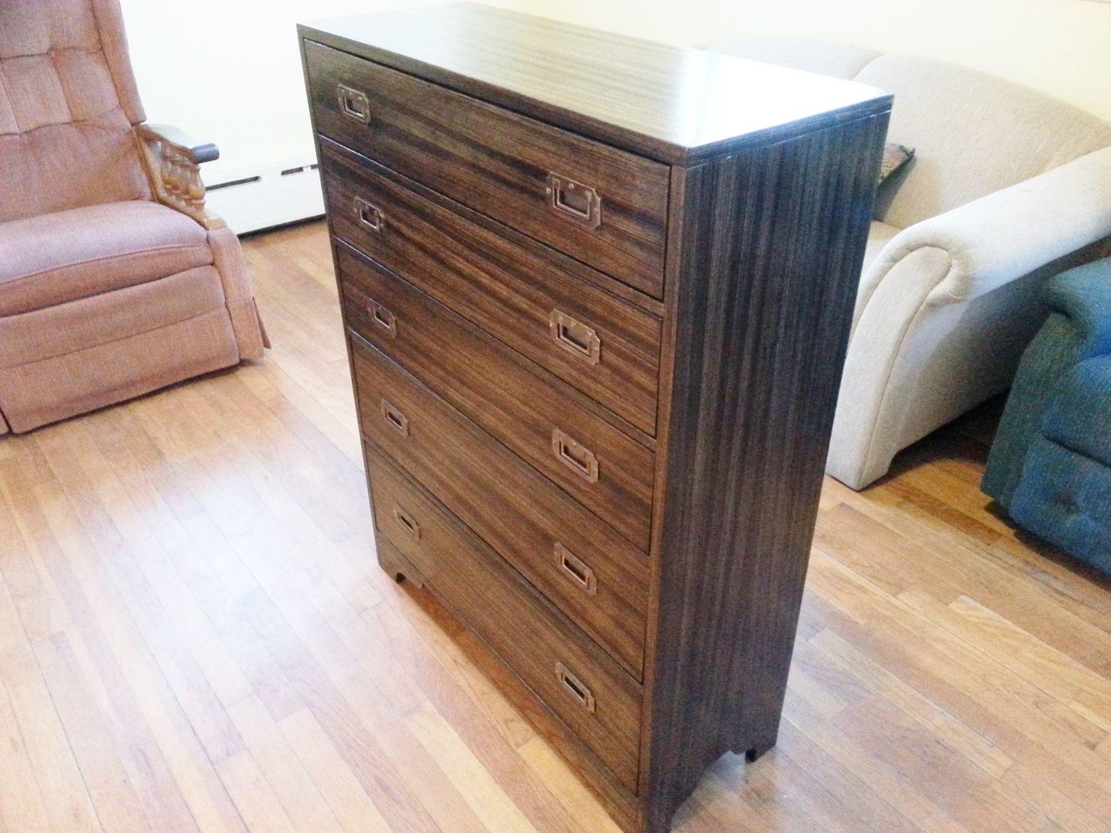 Custom Made Modern Zebra Wood Dresser