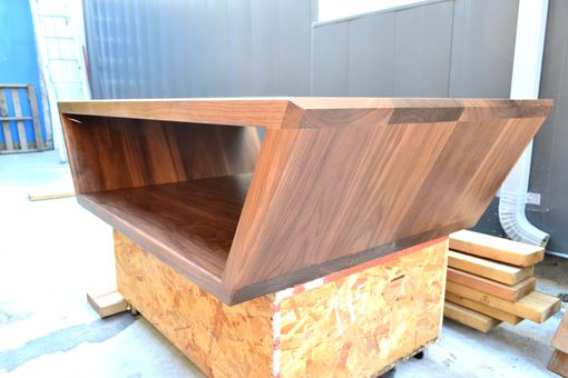 Custom Made Trapezoid Walnut Coffee Table. Solid Wood