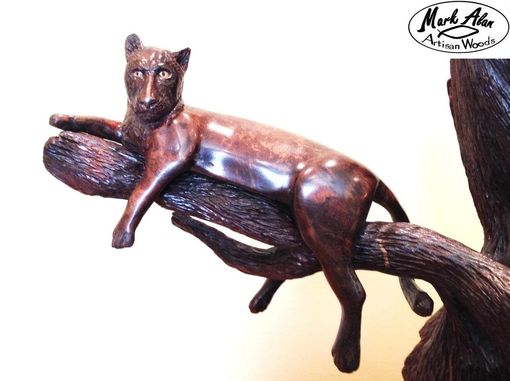 Custom Made Black Leopard Sculpture