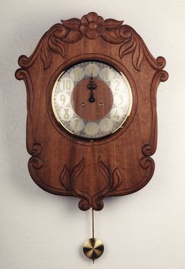 Custom Made Hand-Carved Clock