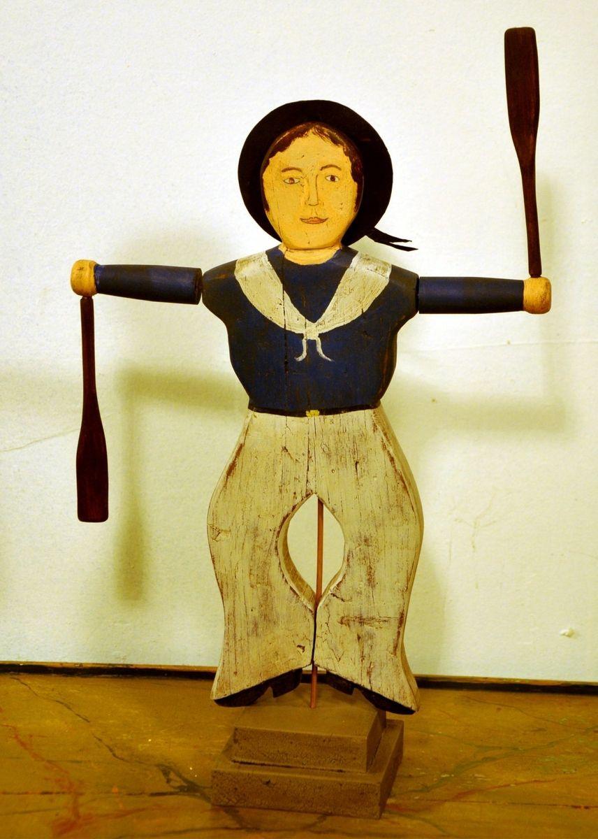 Handmade Nantucket Sailor Whirligig 13 05 By Cape Cod
