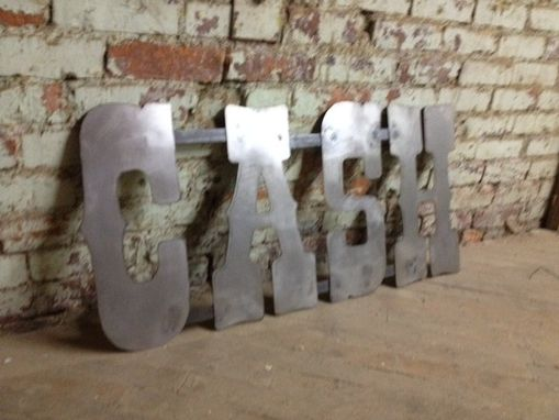 Custom Made Custom Listing Metal Letters Cafe Libros