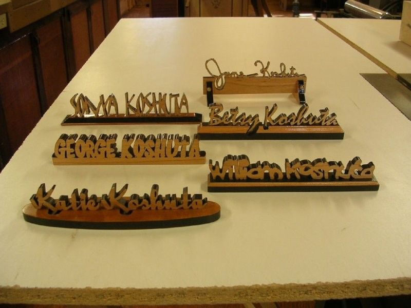 Custom Made Personalized Desk Name Plates