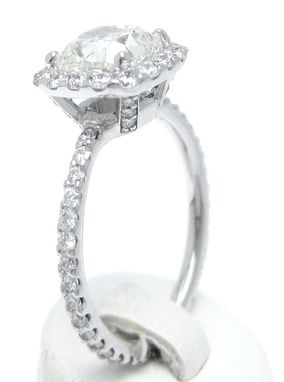 Custom Made Cushion Cut Inspired Diamond Engagement Ring