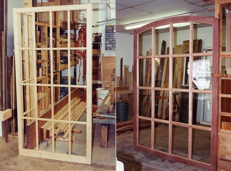 custom made window frames and panes