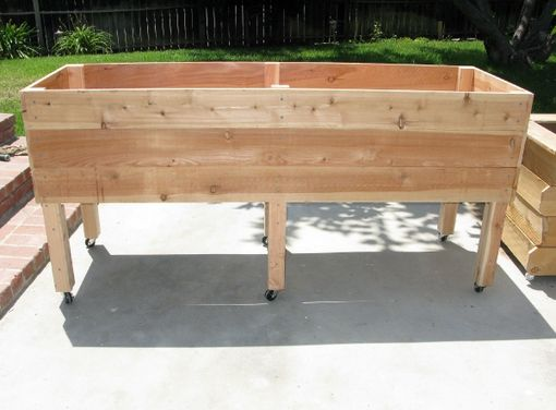Custom Made Jumbo Portable Elevated Planter Box