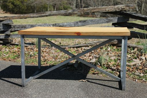 "Custom Made 30""X 42"" Modern Industrial Coffee Table"
