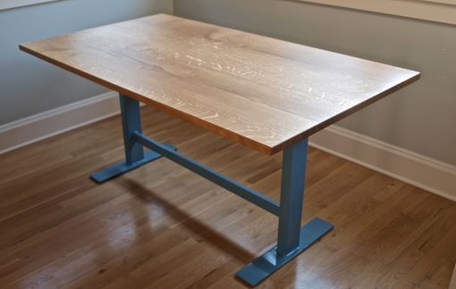 Custom Made Dining Table With Steel Base