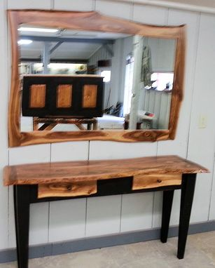 Custom Made Sofa Table With Mirror