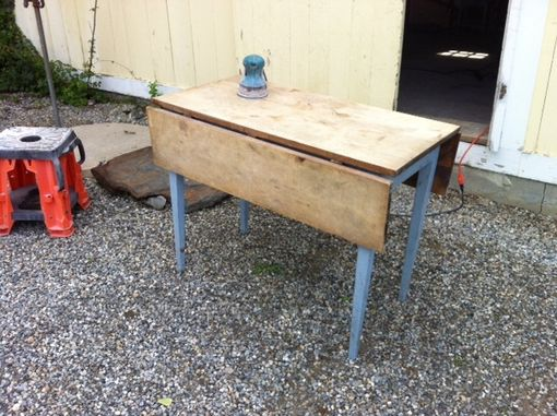 Custom Made Re-Purposed Antique Drop Leaf Table