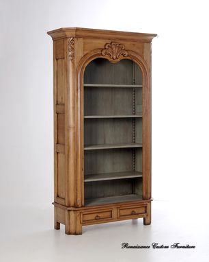 Custom Made #1015 Hand Carved Open Armoire