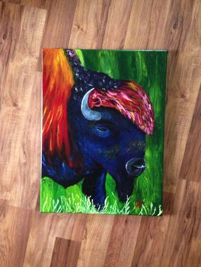 Custom Made Acrylic Painting Of Buffalo