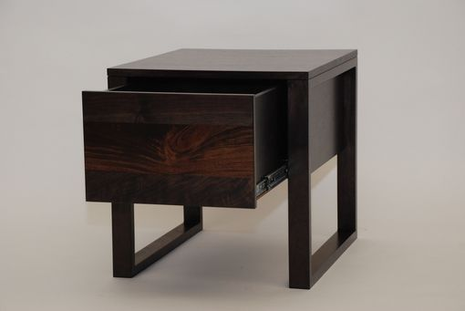 Custom Made Black Walnut Side Table