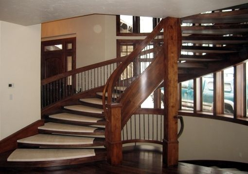 Custom Made Soapstone & Wood Custom Staircase