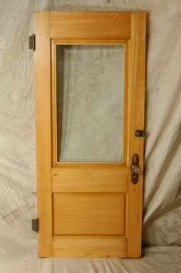 Custom Made Salvaged Entry Door And Frame