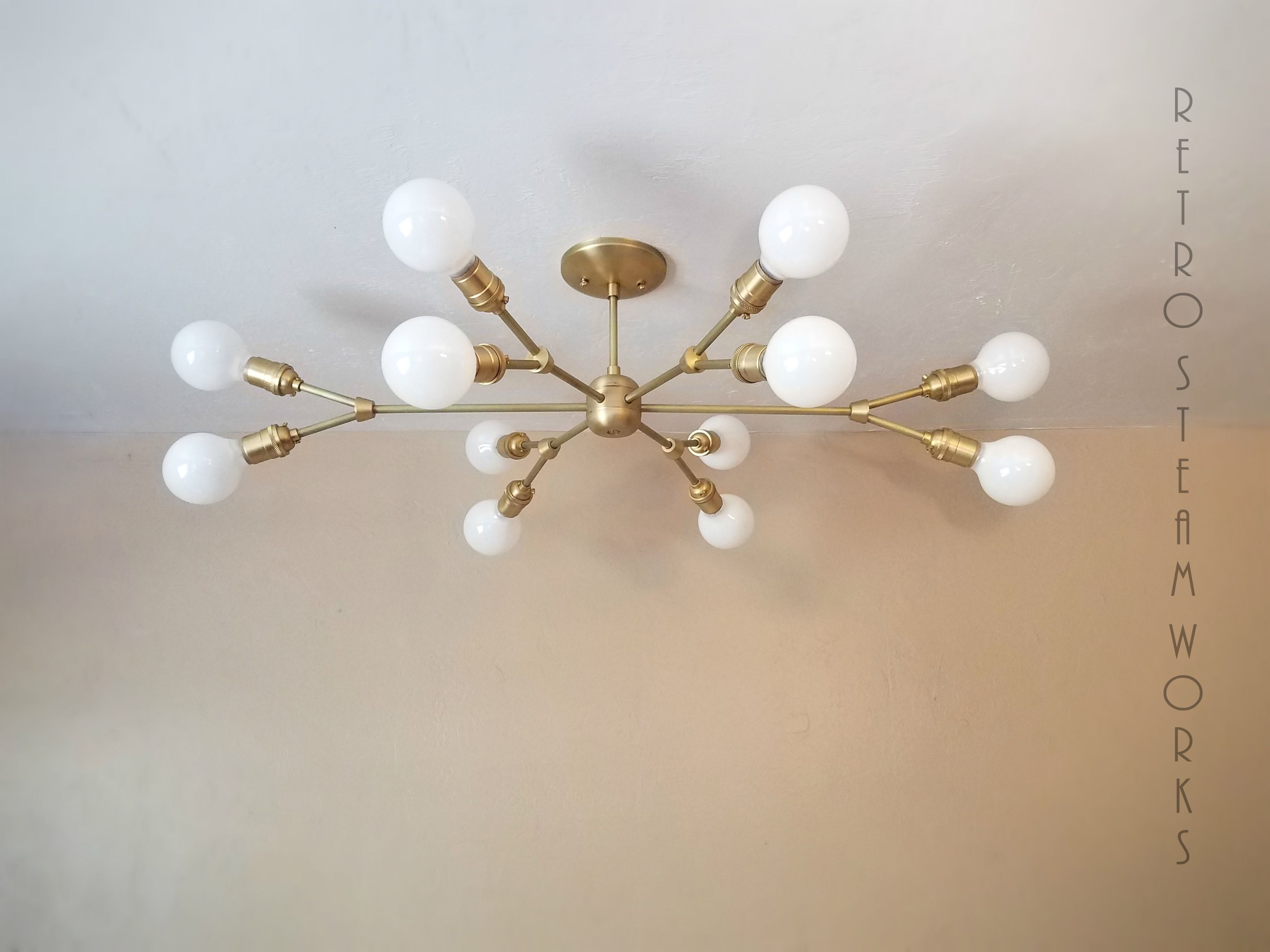 Image of: Buy Hand Crafted Modern Contemporary Light Mid Century Multiple Light Bulbs Chandelier Made To Order From Retro Steam Works Custommade Com