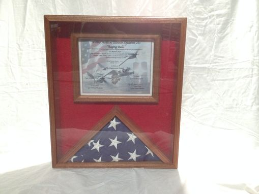 Custom Made Flag And Certificate Display Case