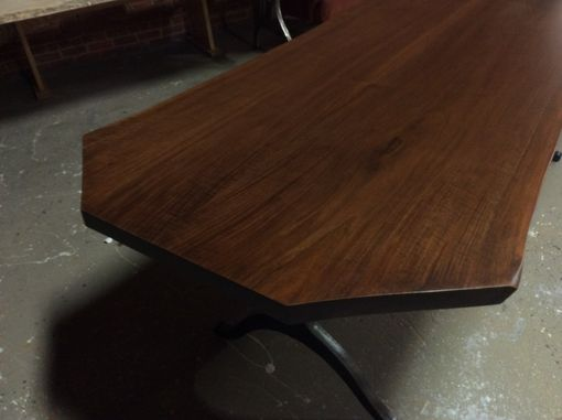 Custom Made Black Walnut Live Edge Dining Table, Your Choice Of Legs, Ready To Ship