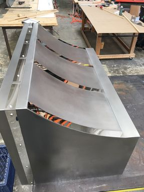 Custom Made #43 Non- Directional Stainless Steel Hood With Enunciated Stainless Straps
