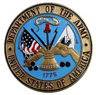 Custom Made Army Seal Plaque