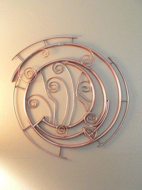 Custom Made Copper Metal Abstract Contemporary