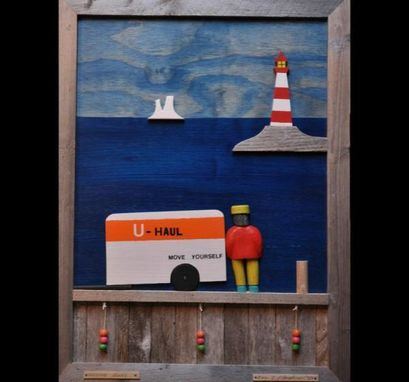 Custom Made 'Moving Away' Wooden Wall Art